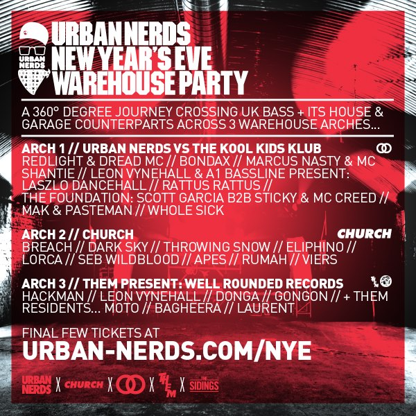 NYE Rave of Choice: Urban Nerds Warehouse Party | AboutToBlow