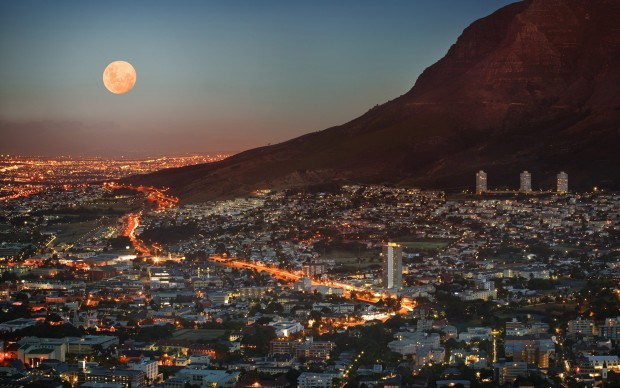 south_africa_cape_town_metropolis_skyscrapers_houses_light_lights_dusk_sky_moon_mountain_view_elevation_58744_3840x2400